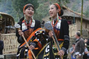 Tetseo sisters. Folk Artistes. Nagaland, Art & Culture