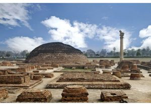 Ashokan Pillar site ruins, Vaishali, Bihar, Budhism