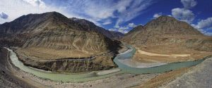 Confluence of Indus & Zanskar Rivers, Nimu, Ladakh, North India