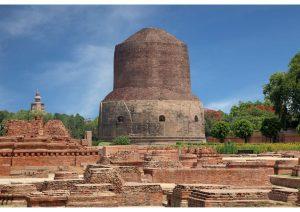 Dhamekh stupa Sarnath, Bihar, Budhism