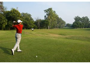 Golfer at Play, Chandigarh Golf Club, North India