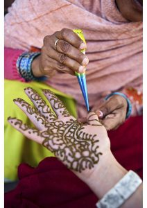 Hands with henna - mehndi, Life