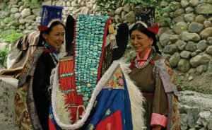 Ladakhi Women in Traditional attire, Life
