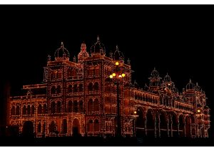 Mysore Palace by Night, Karnataka,South India