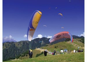 Paragliding at Bir-Billing, Himachal Pradesh, North India