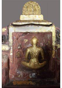Reclined Buddha detail Kushinagar, Uttar Pradesh, Budhism
