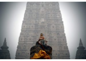 The Mahabodhi Temple early morning, Budhism