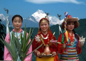 Women in Traditional Attire, Sikkim, Life